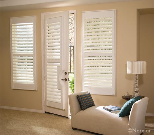 Normandy Shutters French Doors white